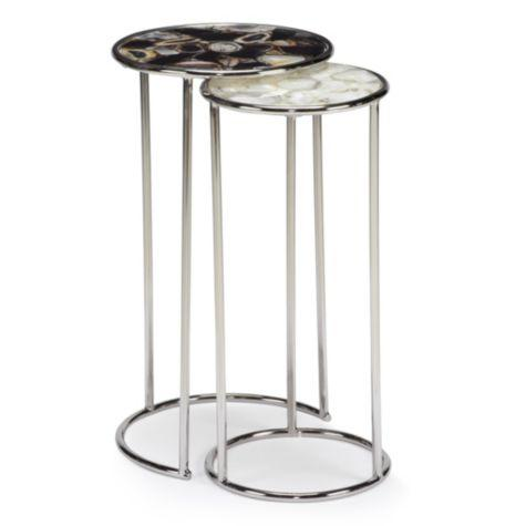 Black And White Agate Nesting Tables
