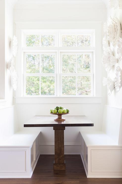 Alyssa Rosenheck Breakfast Nook with Face to Face Banquettes