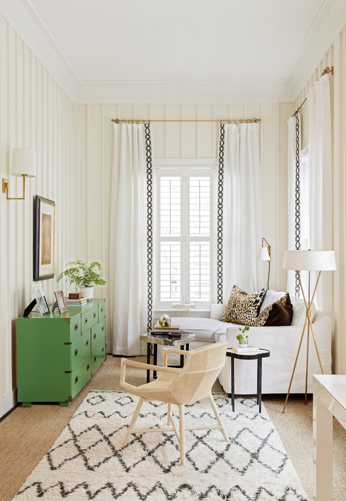 living room candidates white and gold living room with green campaign dresser 11177
