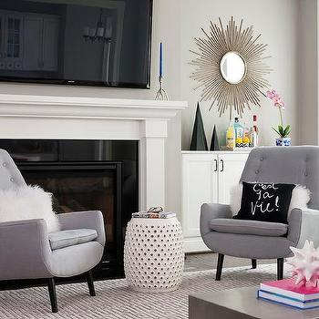 tv next to fireplace design ideas