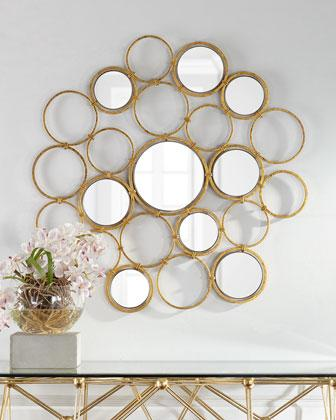 Circle Wall Mirrors gold curved decor wall mirror