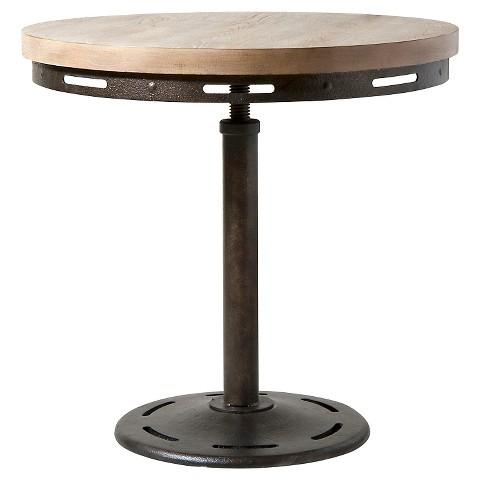 Antique Brown Wooden Round End Table