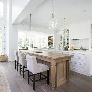 appealing kitchen center island tables | Kitchen Island Dining Table with Gray Tufted Dining Chairs ...