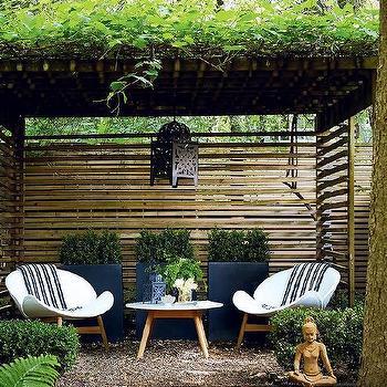 Zen Garden With Pergola