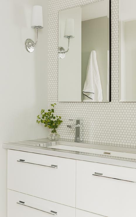 2 Faucets On 1 Sink Transitional Bathroom Cory Connor Design