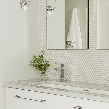 27 Creative White Penny Tiles Bathroom