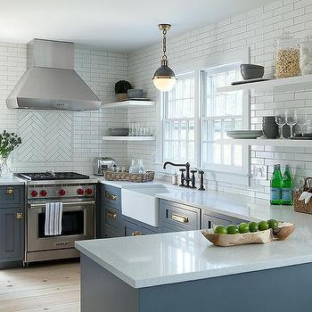 White Kitchen Cabinets with Vintage Brass Latch Hardware ...