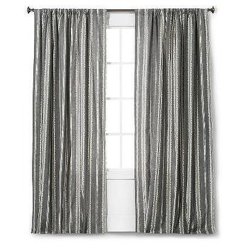 Threshold bold gray stripe curtain panel Bold black and white striped curtains