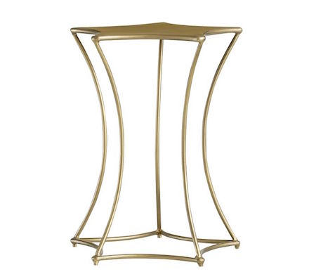 588da1335cba Astre Antique Gold Leaf Star Shaped Mirrored Side End Table Look for ...