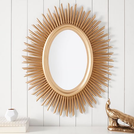 Gold sunburst mirror look 4 less and steals and deals for Decorative mirrors for less
