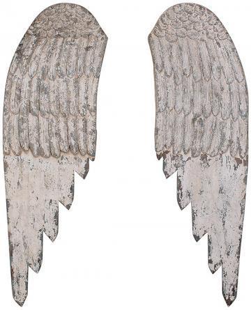 White Wooden Angel Wings Wall Art