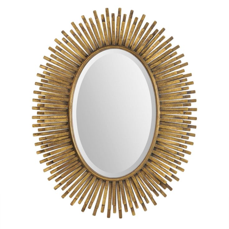 Prescott small antiqued gold leaf oval mirror look for less for Decorative mirrors for less