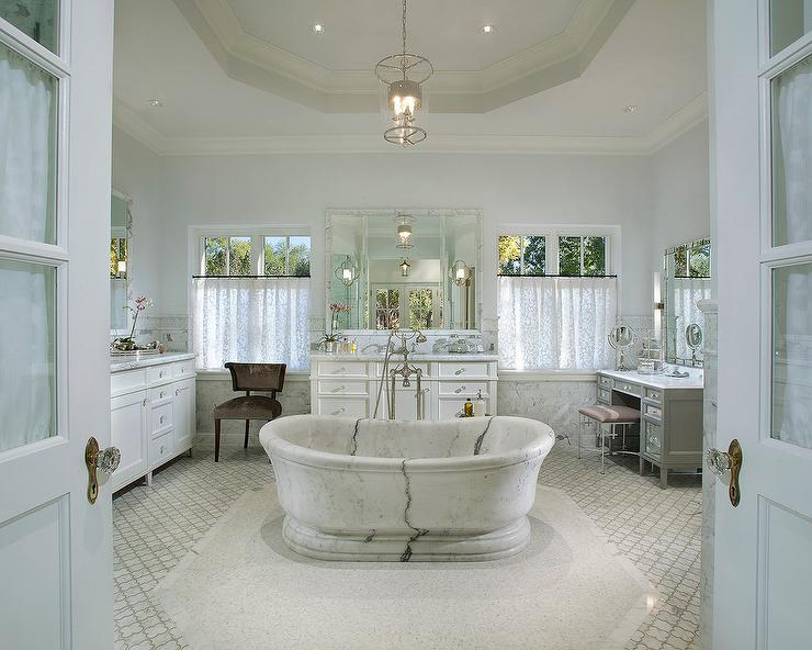Bathroom Mirrors Vaughan freestanding oval marble tub with vaughan zurich lantern