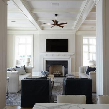 Shiplap Living Room Ceiling Design Ideas
