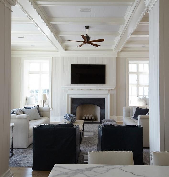 Shiplap Living Room Ceiling Design Ideas