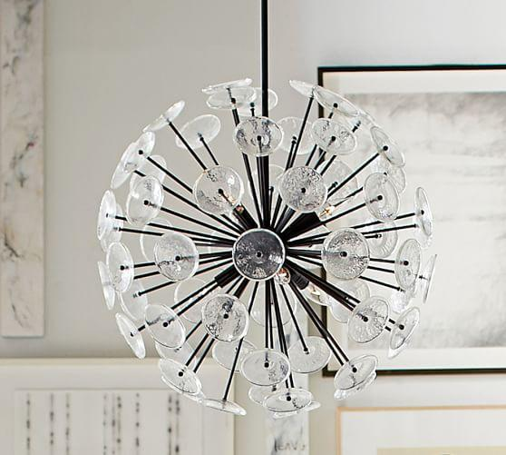 Tempered glass disks orb chandelier aloadofball Image collections