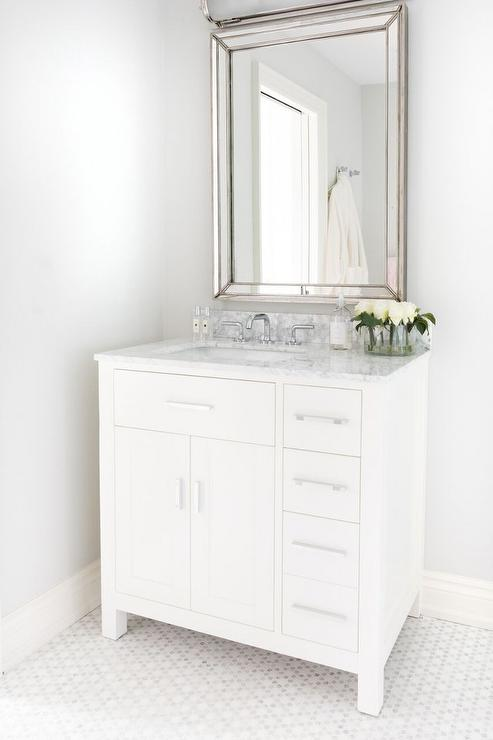 off center sink bathroom vanity white single washstand with centered sink and faucet 23873