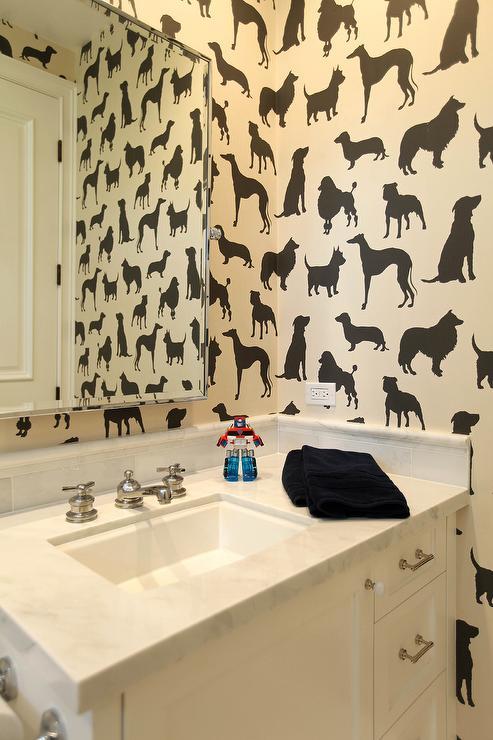 Dog Flock Velvet Wallpaper Contemporary Boy 39 S Room