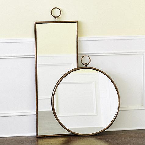 Bronze framed rectangle and round mirror for Bronze framed bathroom mirror
