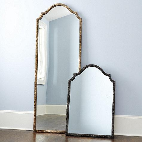 Thin framed Bronze and Black Mirror
