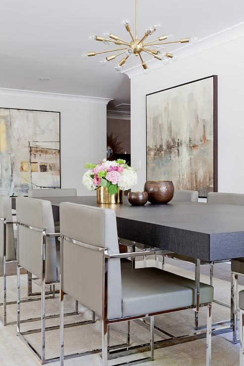 Alyssa Rosenheck Blond Wood And Quartzite Dining Table