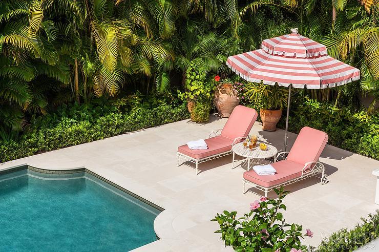 Hollywood Regency Patio with Art Deco Pool - Hollywood Regency Patio With Art Deco Pool - Hollywood Regency - Pool