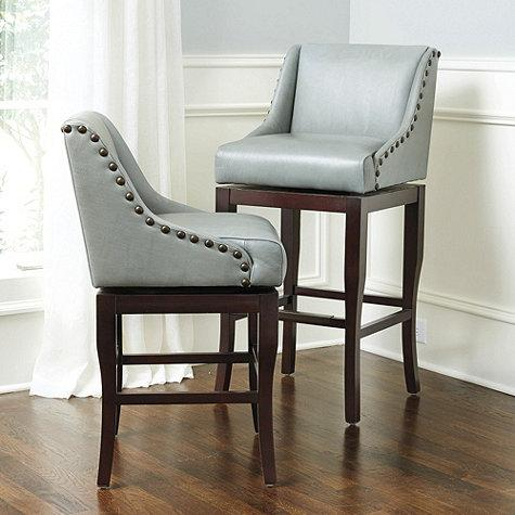 Jessica Charles White Leather Bar Stool