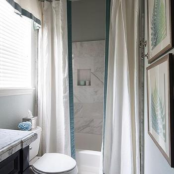 Drop In Tub With 2 Shower Curtains, How To Use 2 Shower Curtains