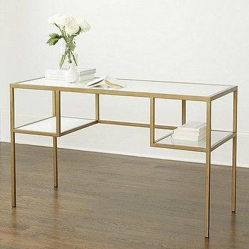 Modern White Gold Desk Products Bookmarks Design