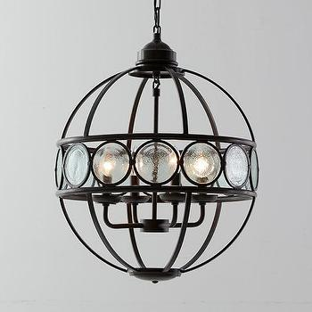 Iron frame orb chandelier products bookmarks design inspiration glass black iron frame orb chandelier aloadofball Image collections