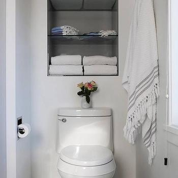 Recessed Shelves Over Toilet