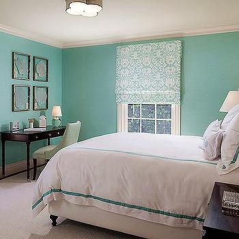 Tiffany blue bedroom eclectic bedroom for Tiffany blue and white bedroom