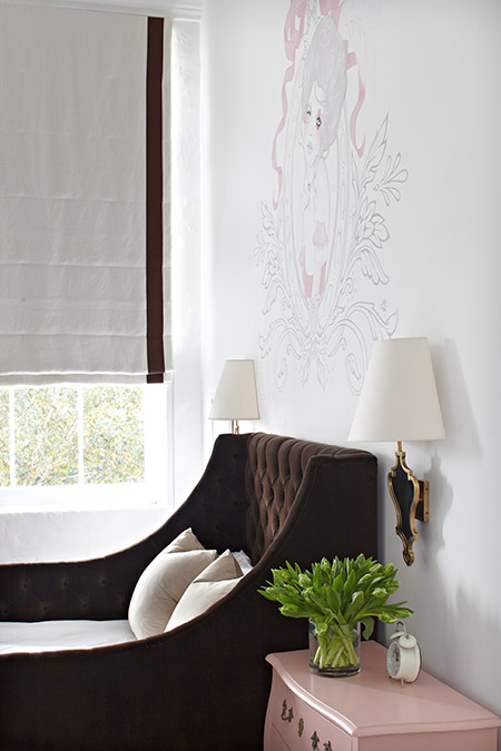 Wall Sconces Next To Bed : Wingback Upholstered Headboard - Transitional - bedroom - Tracery Interiors