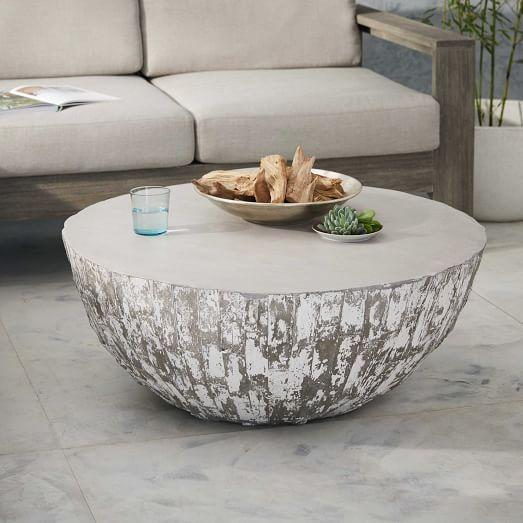 Concrete And Chrome Coffee Table - Concrete and chrome coffee table
