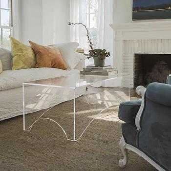 Acrylic Arched Base Coffee Table