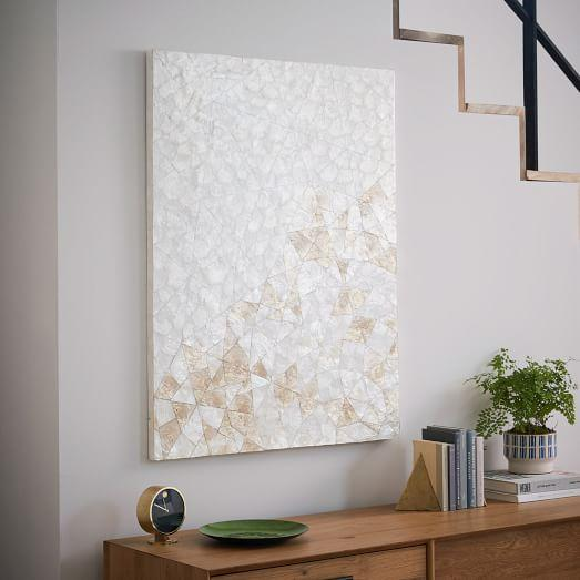 White Capiz Wall Art