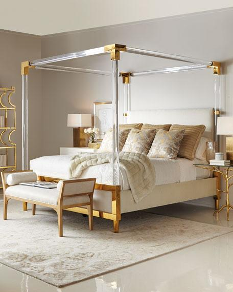 Cream And Brass King Size Bed
