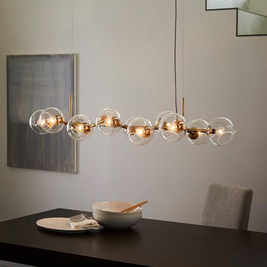 Orb staggered glass chandelier aloadofball Image collections