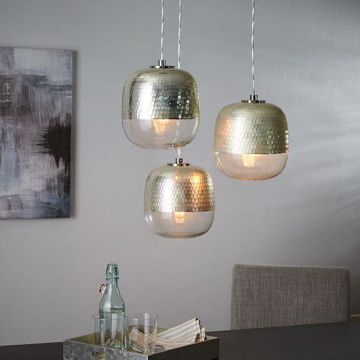 Silver metallic honeycomb three light chandelier aloadofball Images