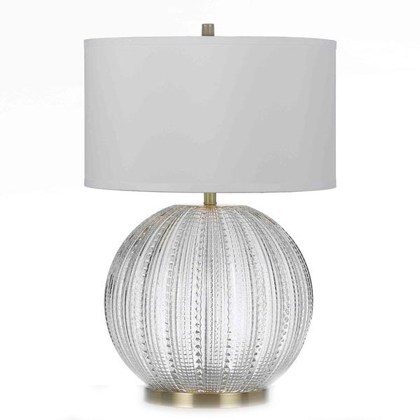 Charming Blown Textured Glass Table Lamp