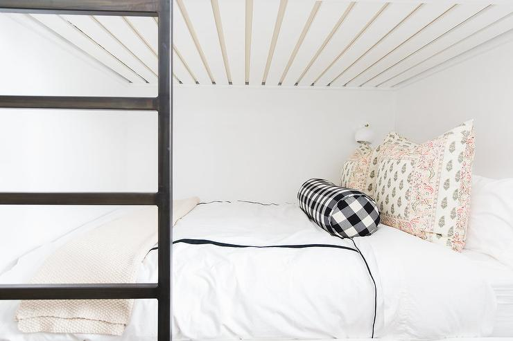 Famous White Bunk Beds with Black Ladders - Transitional - Girl's Room  FA45