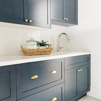 navy laundry cabinets with brass cup pulls design ideas rh decorpad com installing cup pulls on cabinets cup pulls on cabinets