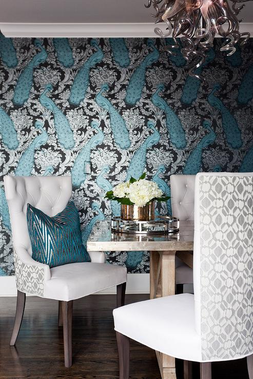 blue and gold dining rooms design ideas