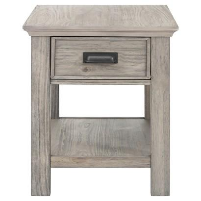 low priced 37c8b 39a72 Gray Wooden Drawer Side Table
