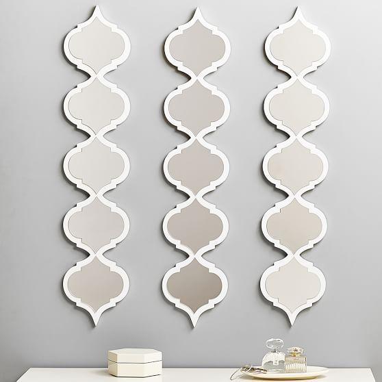 moroccan white frame mirror - White Framed Mirrors