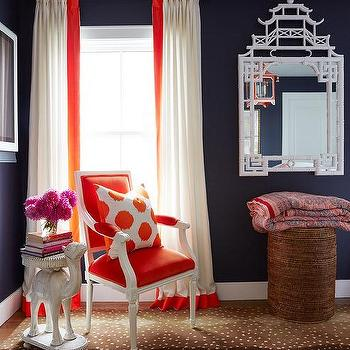 French country bedrooms design decor photos pictures for Black white and orange bedroom