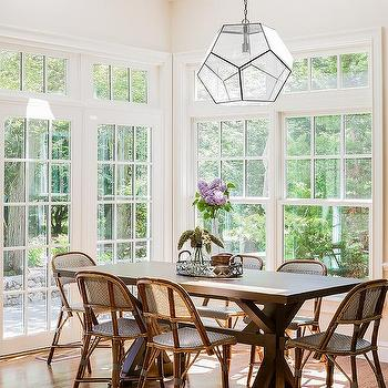breakfast room with vaulted ceiling and skylights - Breakfast Room Lighting