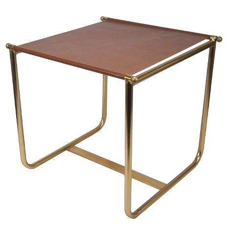 brown leather side table - Leather Side Tables