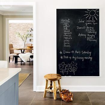 kitchen chalkboard wall ideas industrial zinc finish framed chalkboard 19319