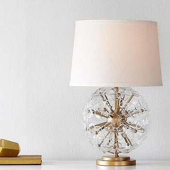 Glass Orb Body Table Lamp